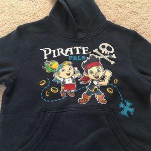 3/$15 Disney Pirate Pals Navy blue Hoodie 2T